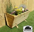 3 Layer Wooden Decking Garden Planter Plant Pot Tapered Triangle Trough