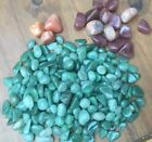 NATURAL POLISHED AVENTURINE CRYSTAL TUMBLESTONES -Peach/Raspberry/Stress/Support