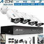 Surveillance DVR Kits A-ZONE 1080P Security Camera System Channel AHD Home W/ 4x