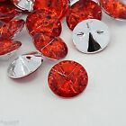 18 Red Acrylic Rhinestone Crystal Buttons Elegant Bestseller 15 mm Sewing Craft