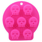 8-Cavity Skull 3D Ice Cube Mold Maker Bar Party Silicone Trays Chocolate Mould