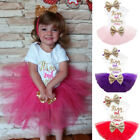 It's My 2nd Birthday Dress Outfits Baby Girl Romper Tutu Party Sets Size 2 Years