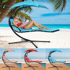 Patio Garden Hanging Hammock Swing Dream Chair Chaise Lounger Seat Chair +Canopy