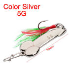 Hot Sale Tackle 5g-20g Feather Bait Metal Hooks Fishing Lure Spoon