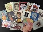 NB11A: Lot of 15 Vintage Bizarre & Weird Cards DIE CUTS for CARD MAKING