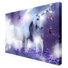 FANTASY UNICORN HORSE WALL ART CANVAS PICTURE LARGE - Various Sizes