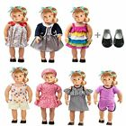 18 Inch Doll Clothes 7 Outfits 1 Pair Shoe Accessories Set for America girl doll