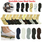 For Men's Invisible No Show Nonslip Loafer Boat Low Cut Solid Cotton Socks