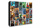 DC Marvel Comic Collage Super Heroes Canvas Wall Art Framed Print -Various Sizes