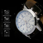 Military Leather Waterproof Date Quartz Analog Army Men's Quartz Wrist Watches