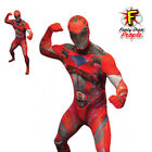 Deluxe Red Power Rangers Adult Mens Morphsuit Costume