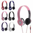 Top STEREO HEADPHONES DJ STYLE FOLDABLE HEADSET EARPHONE OVER EAR MP3/4 3.5MM UK