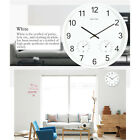 Large Metal Wall Clock Kitchen Home Northern Europe Style Hygrometer Function