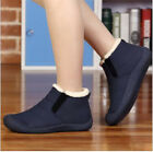 Fashion Women Men's Warm Outdoor Suede Leather Fur-lined Ankle Boots Shoes