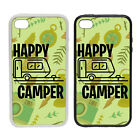 Happy Camper - Rubber and Plastic Phone Cover Case #1