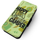 Happy Camper - Printed Faux Leather Flip Phone Case #1