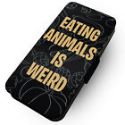 Eating Animals Is Weird - Printed Faux Leather Flip Phone Case #1