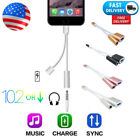 silver cable - 2in1 Lightning to Dual Headphone Adapter Charge Cable to Apple iPhone 5 6 7 iPod
