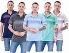 Mens Polo T-Shirt Aztec Print Causal Summer Loose Fit Pocket Zip Button M to XXL