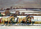 Exercising ~ Horses, Horse Racing ~ Cross Stitch Pattern