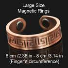 LARGE SIZE Copper Magnetic Rings Mens Womens – Set of 2 Rings 5 Great Designs BR
