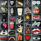 clothing patch - Embroidered Iron On/Sew On Patch DIY Lace Fabric Badge Bag Clothes Applique