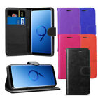 For Samsung Galaxy S9+ Plus - Premium Leather Wallet Flip Case Cover + Screen