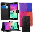 For LG K10 2017 Case - Premium Leather Wallet Flip Case Cover + Screen Protector