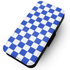 Chequerboard - Blue - Printed Faux Leather Flip Phone Case #2