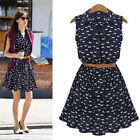 Casual Women Lady Girl Bodycon Sleeveless Floral Mini Dress Cocktail Party T