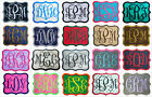 Embroidered Vine Font Name Initial Monogram Iron-On Patch - 30 Fabrics 4 Sizes