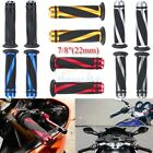 "Motorcycle 7/8"" Hand Grips Handle Bar For Suzuki GSXR600 750 1000 Honda CBR600RR image"