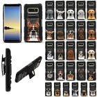 """For Samsung Galaxy Note 8 N950 6.3"""" Dog Design Holster Hybrid Rubber Case Cover"""