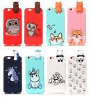 Cute Animal Soft Silicone TPU Back Bumper Case Cover with Toy Doll for Phones