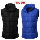 Doublju Womens Quilted Zippered Closure Padded Vest