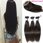 Brazilian Virgin Hair Extension 3bundles Human Hair with 360 Lace Front Closure