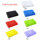 Внешний вид - Flexible Bathroom Silicone Soap Dish Storage Holder Soapbox Plate Tray Drain Box