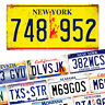 American Number Plates - Metal Wall Plaque Art - USA Licence Muscle Chopper NY