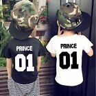 Summer Baby Unisex Short Sleeves Letters Printing Round Collar T-shirt