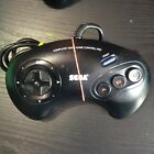 Official Sega Mega Drive Game Pad Controller Red / White Blue Cleaned and Tested