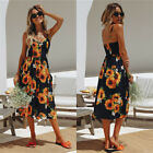 Plus Size Boho Womens Pocket Holiday Long Dress Ladies Summer Floral Maxi Dress <br/> ❤ Latest 30 Styles ❤ ❤ Size UK 6-20 ❤