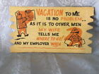 COMICAL VACATION POSTCARD VINTAGE 1950S POST WAR KOMIC KARD HUMOR MODERN JAPAN