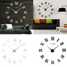 Modern Large Roman Numerals DIY Mirror Wall Clock Sticker Home Decor Hot Sale