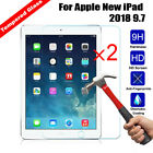 2Pcs 100% Genuine Tempered Glass Screen Protector For Apple New iPad 2018 9.7