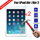 2Pcs New Genuine Tempered Glass Anti-Scratch Screen Protector For iPad  Air Air2