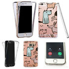 360° Silicone case cover for many mobiles- Soft TPU dog friends