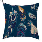 Multi-color Feathers Pattern Square Pillow Case Home Sofa Cushion Cover Hot Sale