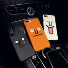 Simple Couple Cartoon Shockproof Frosted Slim Phone Hard Case Cover For iPhone7P