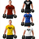 Men's Super Gym Singlets t-shirt Bodybuilding Fitness Sports Casual Tops Tee image