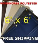 6' x 6' Workhorse Polyester Waterproof Breathable Canvas Tarp